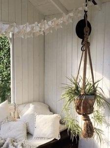 handmade macrame hanging planter - plants