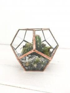 handmade geometric terrarium