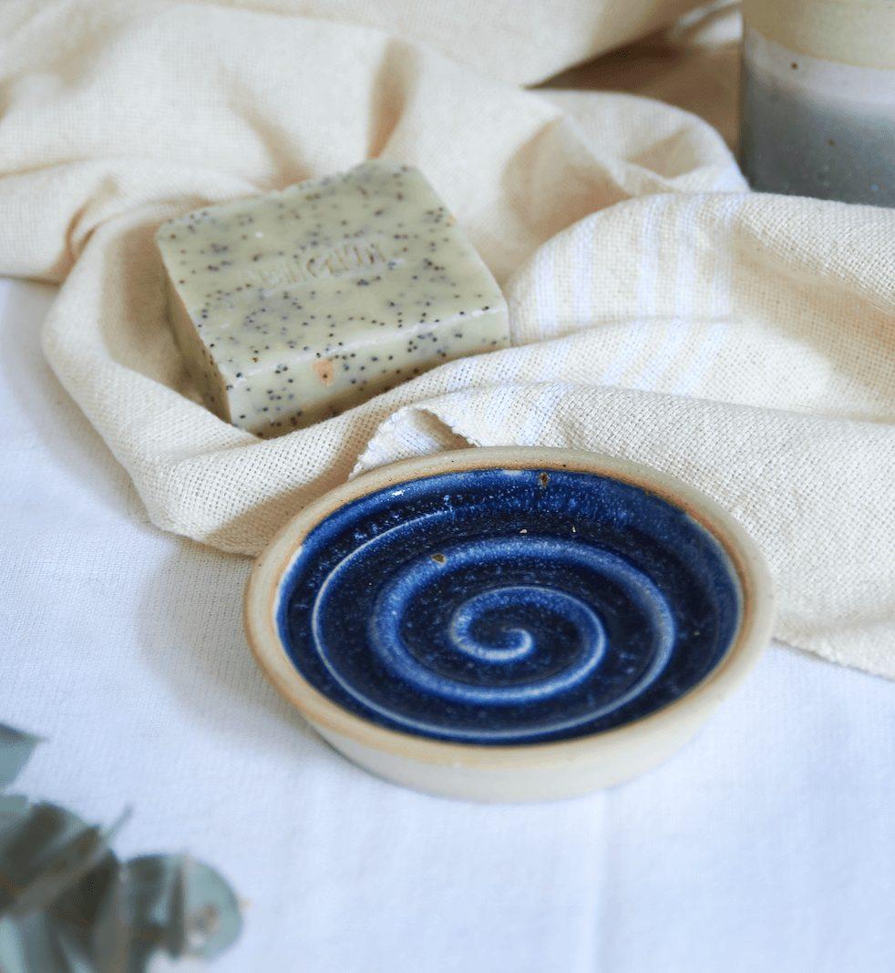 midnight blue soap dish